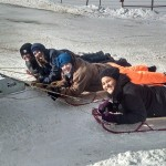 4H Kids having a fun time sledding