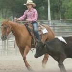 4H participant at horse show