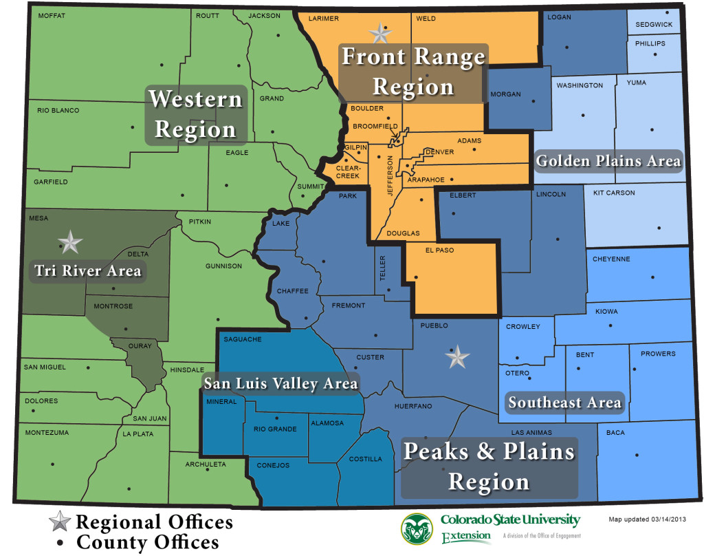 Colorado Extension Regions